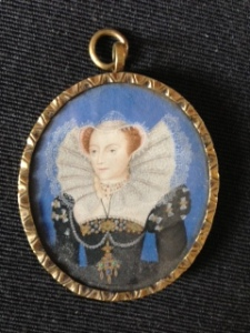 Victorian copy of a Nicholas Hilliard original of Mary Queen of Scots by George Perfect Harding.
