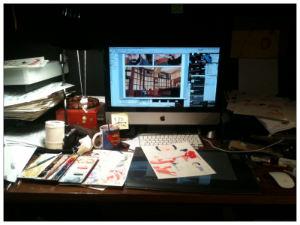 Glynn Dillon's Desk